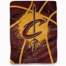 "Cleveland Cavaliers 60""x80"" Plush Throw Blanket - Shadow Play Design [NEW] NBA"