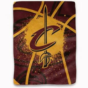 "Cleveland Cavaliers 60""x80"" Plush Throw Blanket - Shadow Play Design [NEW] NBA"