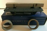 HORNBY DUBLO OO GAUGE D2 DOUBLE BOLSTER WAGON 32052 BLUE WHITE BOXED WITH RINGS