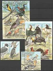 H0434 1997 ERITREA FAUNA BIRDS 2BL+2KB MNH