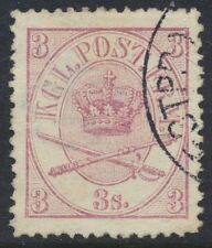 Denmark Scott 12/AFA 12, 3sk red-violet Arms type, XF Used