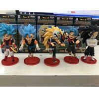 5pcs/set Dragon Ball Super Saiyan Son Goku PVC Action Figure Collectible Model