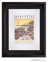 Frank Lloyd WRIGHT ORIGINAL Lithograph by Louis Hellman *Signed *RARE +++FRAMING