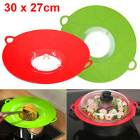 Silicone Anti Overflow Boil Pot Lid Spill Stopper Pan Cover Kitchen Cook Gadgets