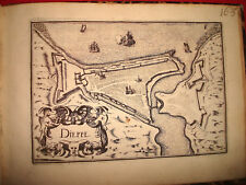 CARTE MAP PLANS NORMANDIE DIEPPE  Lot de 2 cartes de 1631