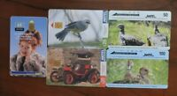 5 ASSORTED PHONECARDS FROM URUGUAY NO VALUE COLLECTORS ITEM. LOT 2