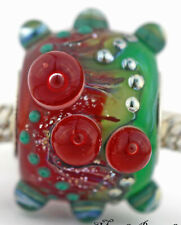 POISON APPLE european charm bead Mandy Ramsdell sterling silver lampwork glass