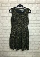 APRICOT LADIES DRESS SIZE 10 BLACK AND GOLD MINI DRESS PARTY OCCASION