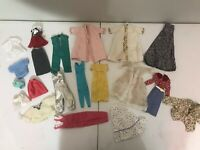 Vintage Barbie Doll Clothing And Accessory Lot Ken Tuxedo Dress Pants Shirts