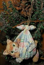 Enesco Calico Kittens Hand-Painted Hanging Ornament Baby's First 1st Christmas