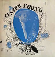 "VERY RARE JAZZ 10"" LESTER YOUNG COLLATES V 1 OG FRENCH MERCURY BLUE STAR MGC 108"