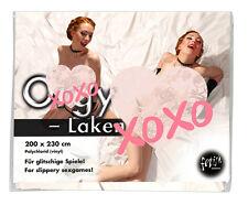 250465 FETISH Telo Copriletto in PVC Lucido Lucido Matrimoniale 230 x 200 BIANCO