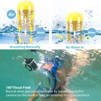 Foldable Diving Mask W/ Detachable Mount Full Face Snorkel Mask Underwater Tool