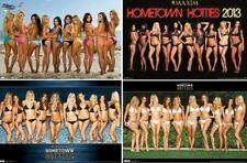 Group of 4 Maxim Hometown Hotties Bikini Lingerie - Official Posters (Sealed)
