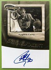 Stephen Curry Press Pass Fusion '09 TT-SC Autographed 57/85 Rare