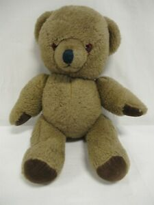 """Vintage teddy bear - 15"""" tall - articulated with brown fur"""