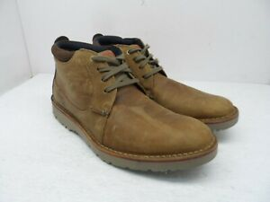 Clarks Men's Mid-Cut Vargo Casual Chukka Boot Dark Tan Leather Size 9.5M