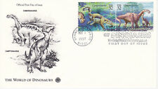 1997 FIRST DAY COVER FDC WORLD OF DINOSAURS POSTAL COM. SOCIETY CACHET DESIGN #3