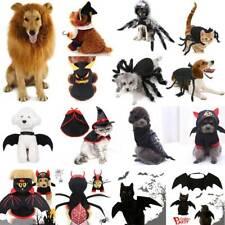 Halloween Pet Dog Cat Fancy Dress Up Costume Spider Pumpkin Bat Vampire Cosplay