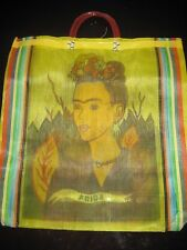 Plasticy Yellow FRIDA KAHLO Tote Market Fruit Market Beach Bag Mexican Artist