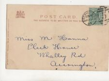 Miss M Hanna Pleck House Whalley Road Accrington 1903 309b
