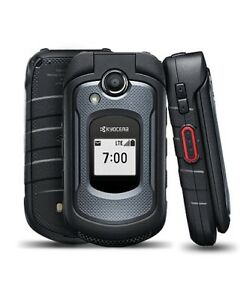 Kyocera DuraXE 4G VoLTE E4710 8 GB - Black (AT&T) Locked / Unlocked Flip Phone