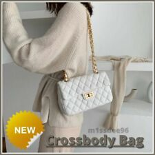 Women's Fashion Crossbody CHAIN Hand Bag Plaid Stripes New Lady Simple Shoulder
