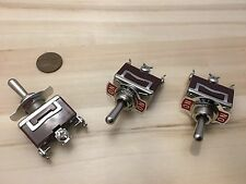 3 Pieces RED 3 PIN momentary Toggle switch (ON)OFF(ON)12v 125v spring return B5