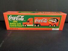2000 Coca Cola Holiday Gold Caravan Truck