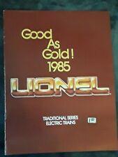 Lionel Classic 1985 Flier Flyer Catalog Brochure Classic Trains Good As Gold