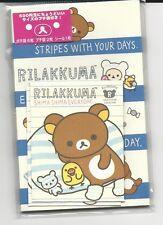 Sanrio San-X Rilakkuma Gift Money Envelopes Stripe With Stickers