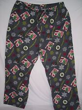 old navy, tropical christmas theme pajama bottoms, draw string, NWT, XXL