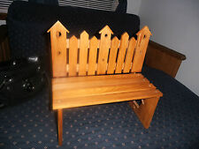 New listing Cute Country Wood Birdhouse Bench Dolls Toys Bears Display