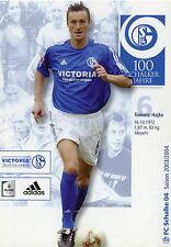 Fankarte 2003 2004 Tomasz Hajto FC Schalke 04 Gelsenkirchen Fussball Bundesliga
