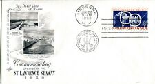 1959 COMMEMORATIVE SAINT LAWRENCE SEAWAY ART CRAFT CACHET UNADDRESSED FDC
