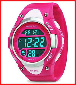 RSVOM Digital Watches for Girls Gifts - Kids Outdoor Sports Watch with LED 5 ATM