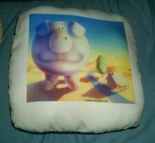Stewart Moskowitz cartoon big pig stuffed throw pillow piggy 1979 mint condition