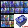 200pcs Latest Pokemon Cards 195 GX + 5 MEGA English Holo Flash Trading GX Cards~