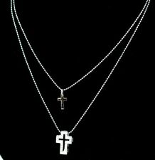 """22K THAI BAHT DP GOLD ~ CROSS PENDANT CHAIN NECKLACE  16"""" 18"""" 32"""" ~ CLEARLANCE"""