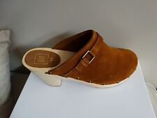 Bnwt New Gap Suede Brown Clogs Mules shoes Size 9.5