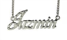 18K White Gold Plated Necklace With Name JAZMIN - Gifts For Her Personalized