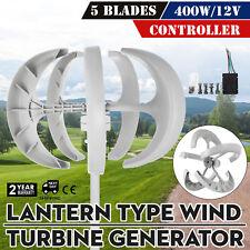 400W DC12V/24V Wind Turbine Generator Lanterns Vertical Axis Controller 5 Blades