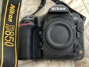 Nikon D850 45.7 MP Digital SLR Camera - Black (Body Only) USA MODEL