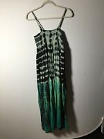 Tree Of Life Womens Tie Dye Midi Shift Dress one Size Fits Most 8-16 Cotton