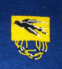 Girls Barrette Fringed Black Bird design Authentic Native American made Dc2