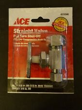 Ace (4310348) Full Turn Shut Off Straight Valve w/ Copper Compression Hoop Up