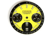 Dial for Citizen 8110 automatic bull-head chronograph (yellow/black)