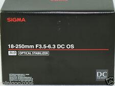 NEW Sigma 18-250mm F3.5-6.3 DC MACRO OS HSM Zoom Lens (18-250 mm) Nikon*Offer