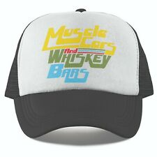 Retro Muscle Cars And Whiskey Bars 80s Vintage Look Snap Back Trucker Cap