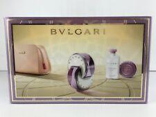 BVLGARI OMNIA AMETHYSTE  PERFUME 4PC GIFT SET 2.2 OZ 2.5 B/L+ SOAP & POUCH NIB